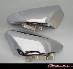 2 PIECE CHROME PLATED M109R OVAL SIDE COVERS (EXCHANGE PROGRAM)