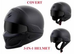 SCORPION COVERT 3 IN 1 HELMET