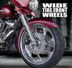 "180 FAT FRONT WHEEL & TIRE FOR HD MODELS (18"", 21"" OR 23"")"