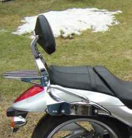 Meancycles Quick Release Touring Backrest W Grab Rails